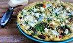 Омлет со шпинатом, грибами и помидорами: пошаговый рецепт
