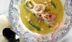 Суп с бобами и кальмарами
