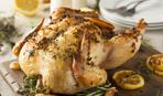 Курица, запеченная с лимоном и чабрецом
