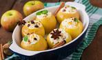 Яблоки, запеченные с изюмом и орехами
