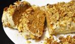 Ореховый рулет с ванильным соусом: пошаговый рецепт