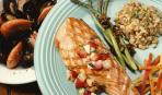 Стейки гриль из лосося