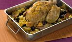 Цыплята, запеченные с виноградом