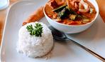 Тофу с карри и рисом