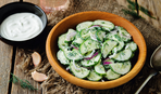 Необычный огуречный салат