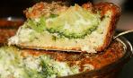 Пирог с брокколи и сыром рокфор