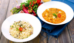 Рис с креветками и грибами