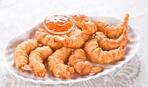 Закуска к пиву - креветки в тесте с тайским соусом