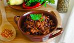 Тушеная фасоль с грибами - легко, быстро и очень сытно