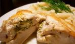 """Готовим из куриного филе: запеченные """"Кармашки"""" с грибами"""