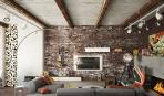 10 вариантов кирпичной стенки в интерьере