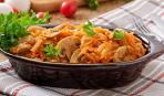Тушеная капуста с грибами: пошаговый рецепт