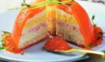 Слоеный пирог из морепродуктов