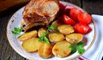 Запеченная корейка с картошкой