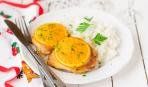 Запеченные куриные бедра с апельсинами