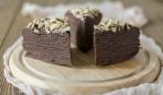Шоколадный торт из блинов «Нутелла»