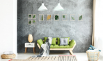 Акцентная стена в гостиной: 10 идей