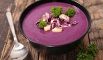 Красиво и вкусно: крем-суп из краснокочанной капусты