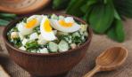 Витаминный салат с черемшой