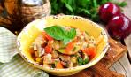 Постное меню: картофель, тушеный в мультиварке с грибами и овощами