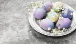 Как покрасить яйца в необычный меланжевый принт