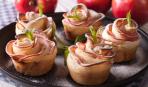 """""""Розочки"""" из слоеного теста с творогом и яблоками: пошаговый рецепт"""