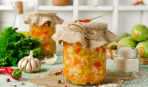 Зимние заготовки: салат из кабачков с майонезом