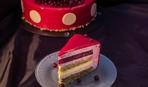 Современные десерты: клюквенный муссовый торт с ореховым пралине