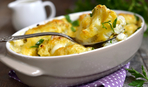 Блюдо дня: запеченная цветная капуста в сметанно-чесночном соусе