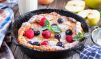 Мега-оладушек из духовки: готовим Dutch baby pancake